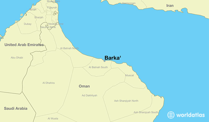 map showing the location of Barka'