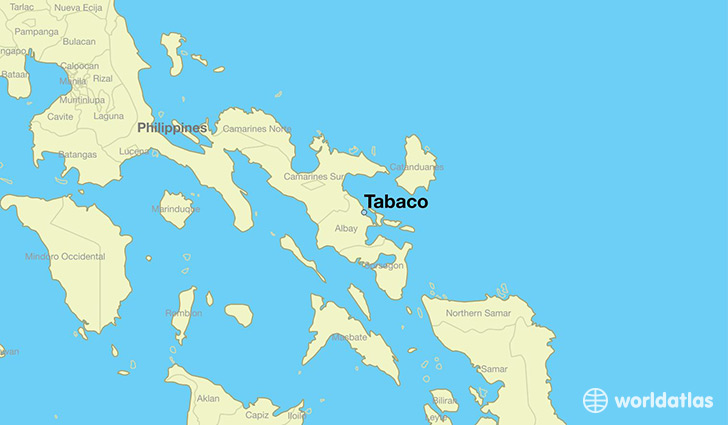 map showing the location of Tabaco