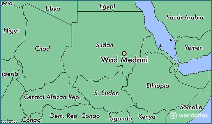 Where Is Wad Medani The Sudan Wad Medani Al Jazirah Map - Wad madani map
