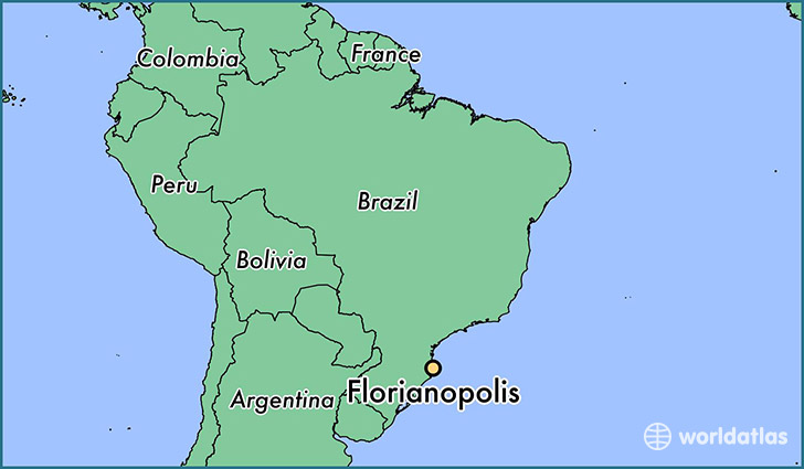 map showing the location of Florianopolis