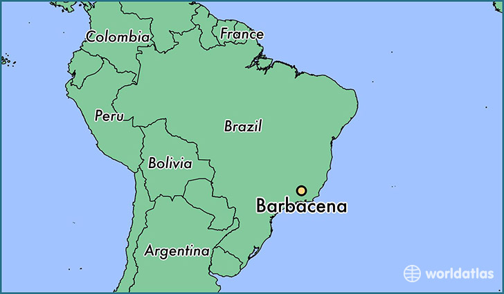 map showing the location of Barbacena