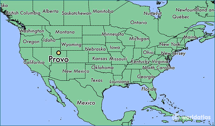 map showing the location of Provo