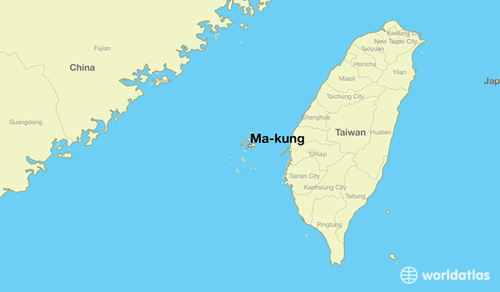 map showing the location of Ma-kung
