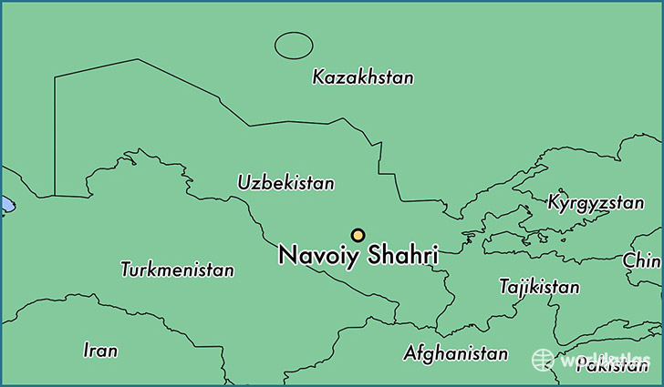 map showing the location of Navoiy Shahri