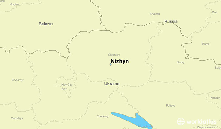 map showing the location of Nizhyn