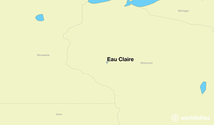 map showing the location of Eau Claire