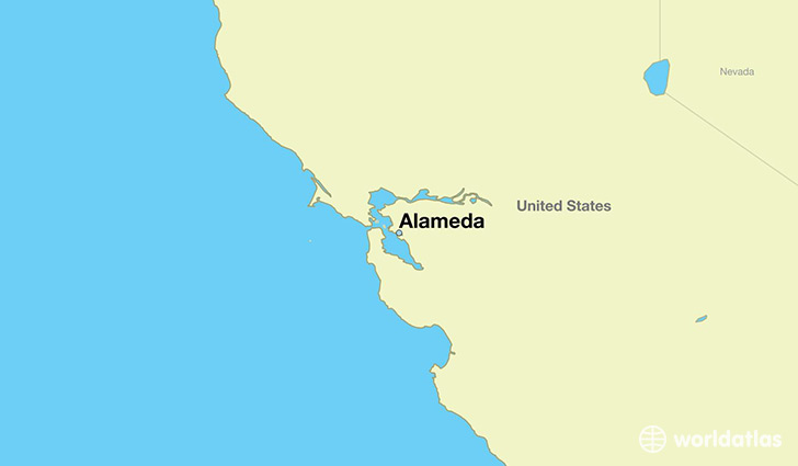 map showing the location of Alameda