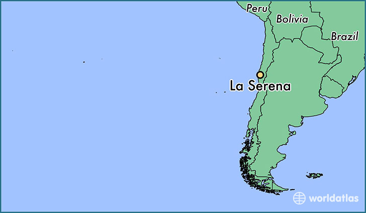 map showing the location of La Serena