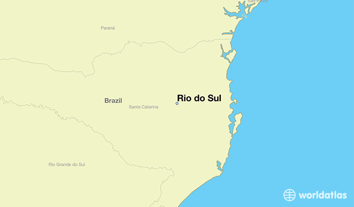 Where is Rio do Sul Brazil Rio do Sul Santa Catarina Map