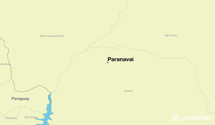 map showing the location of Paranavai