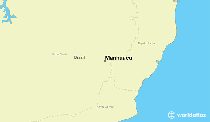 map showing the location of Manhuacu