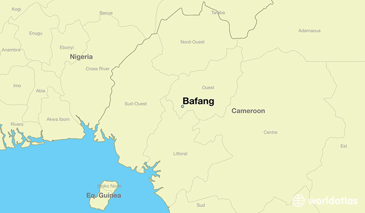 map showing the location of Bafang