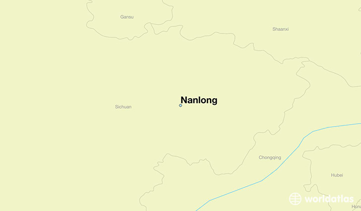 map showing the location of Nanlong