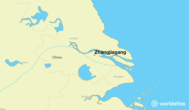 map showing the location of Zhangjiagang
