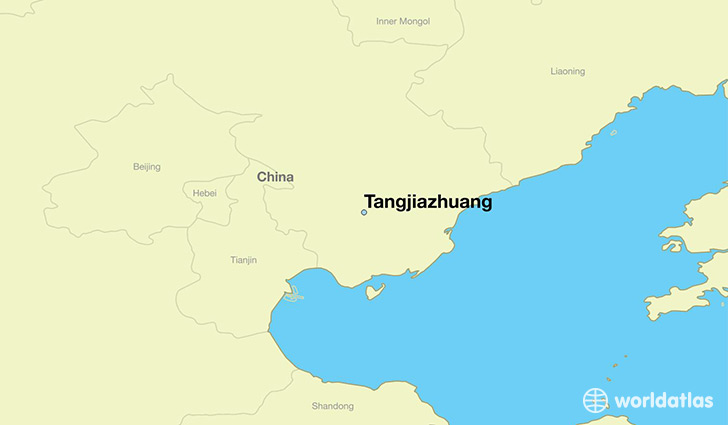 map showing the location of Tangjiazhuang