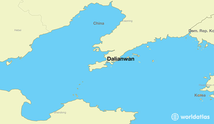 map showing the location of Dalianwan