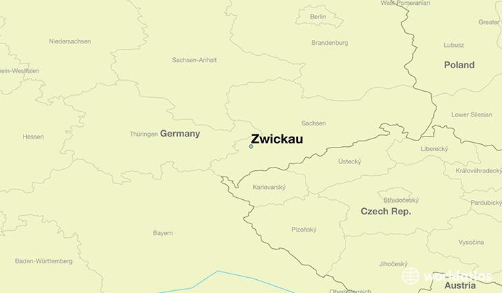 Where is Zwickau Germany Zwickau Saxony Map WorldAtlascom