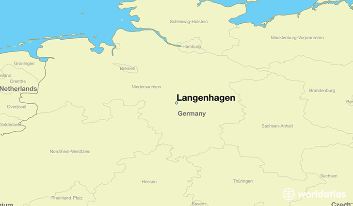 map showing the location of Langenhagen