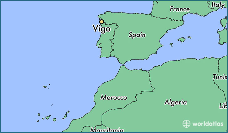 map showing the location of Vigo