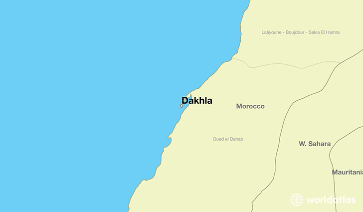 Where is Dakhla Western Sahara Dakhla Oued EdDahabLagouira