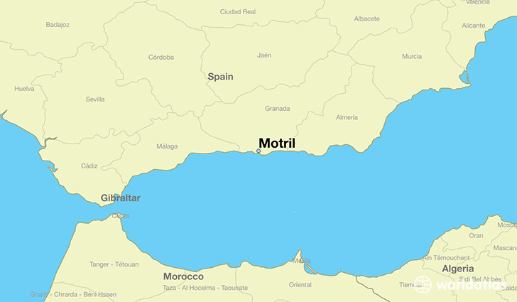map showing the location of Motril