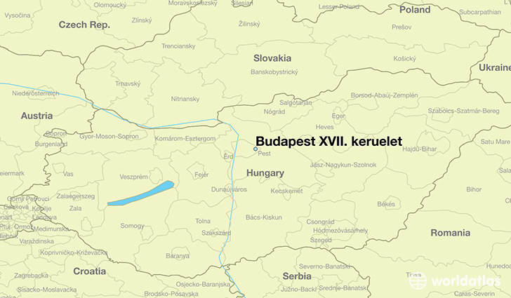 map showing the location of Budapest XVII. keruelet