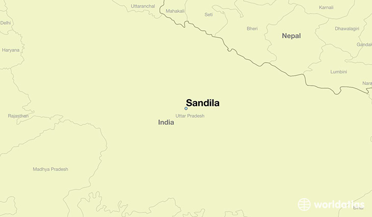 map showing the location of Sandila