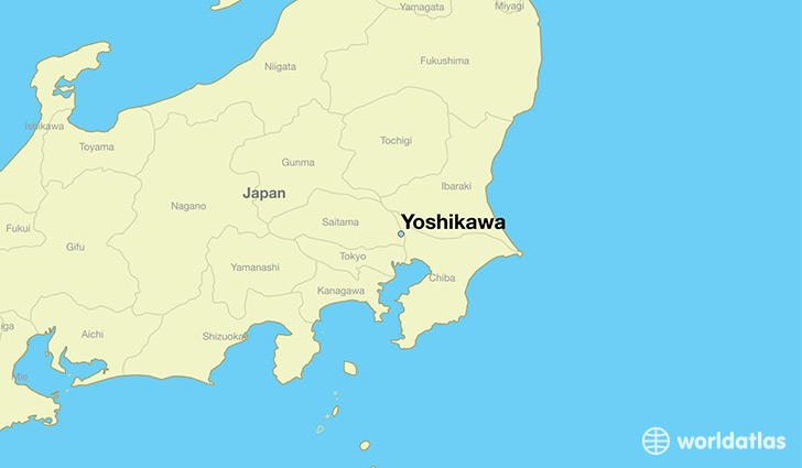 map showing the location of Yoshikawa