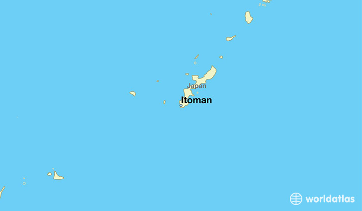 map showing the location of Itoman