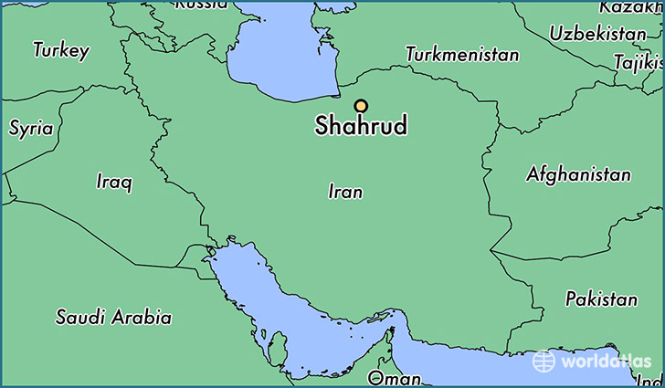map showing the location of Shahrud