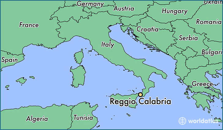 map showing the location of Reggio Calabria