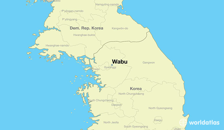 map showing the location of Wabu