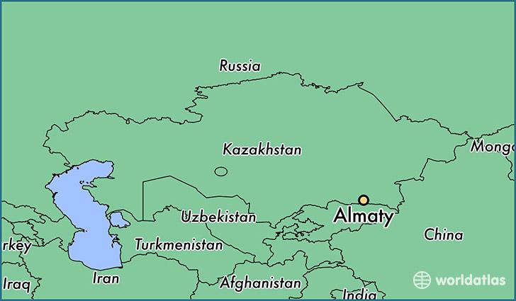 Where is Almaty Kazakhstan Almaty Almaty Qalasy Map