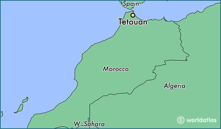 map showing the location of Tetouan