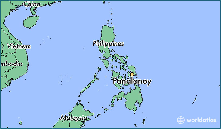 map showing the location of Panalanoy