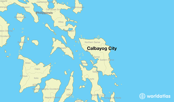 map showing the location of Calbayog City