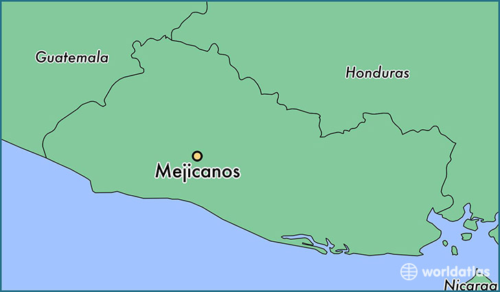 map showing the location of Mejicanos