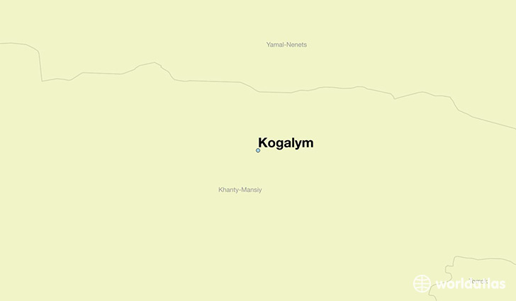 map showing the location of Kogalym