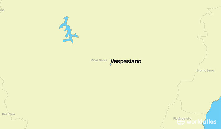 map showing the location of Vespasiano