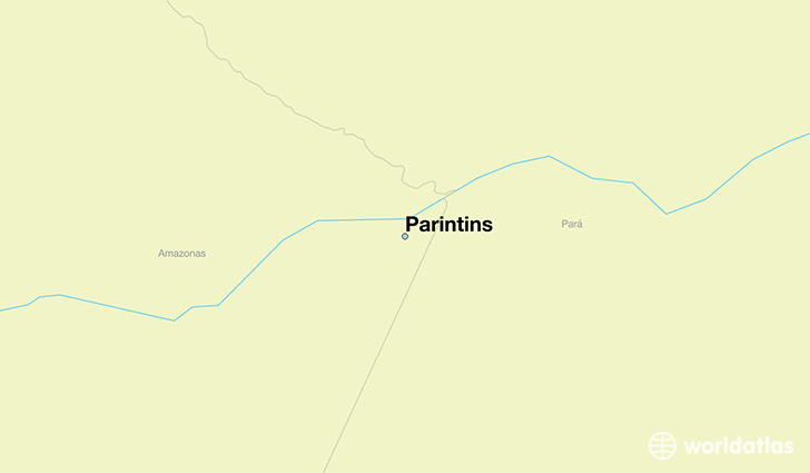 map showing the location of Parintins