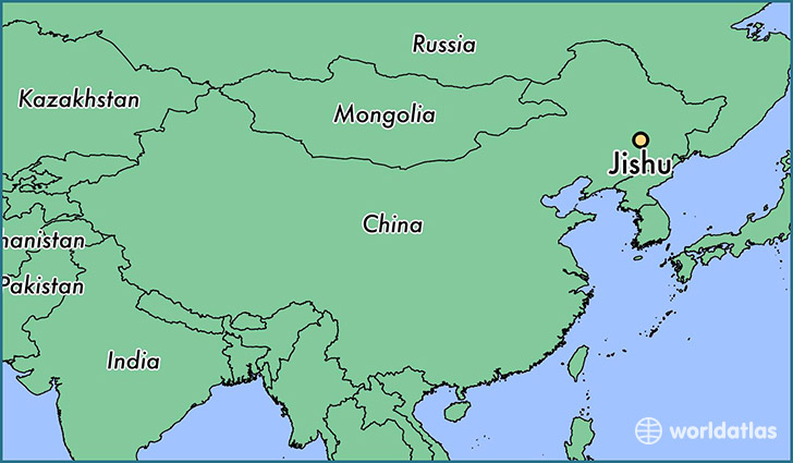map showing the location of Jishu