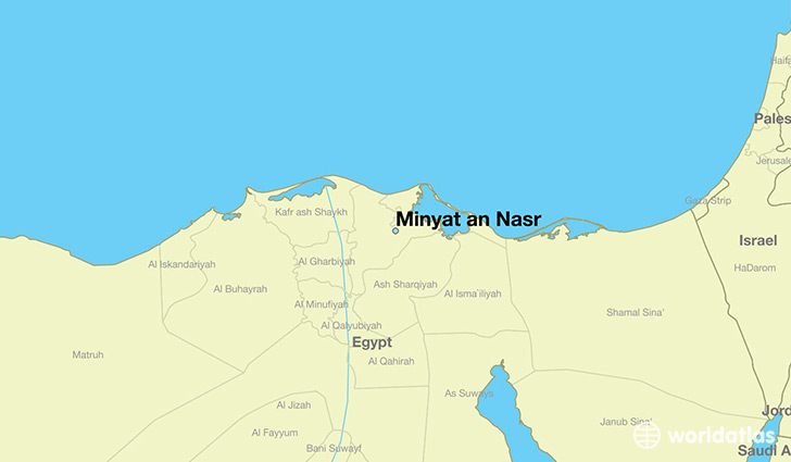 map showing the location of Minyat an Nasr