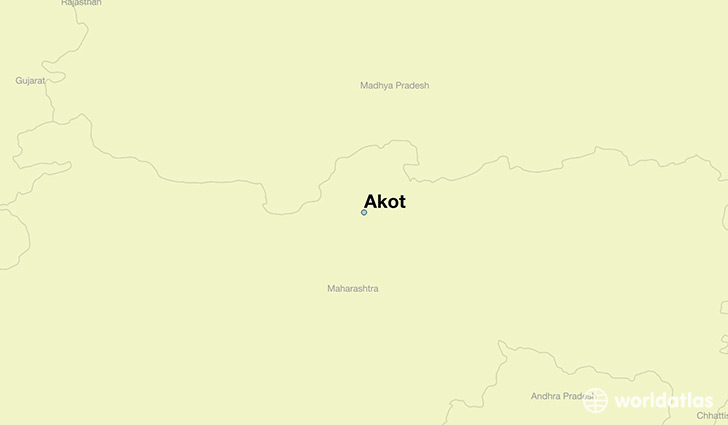 map showing the location of Akot