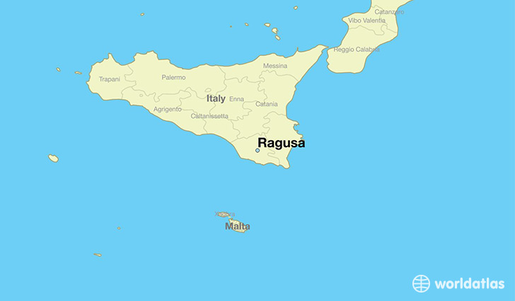 map showing the location of Ragusa