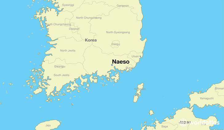 map showing the location of Naeso