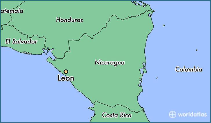 Where is Leon Nicaragua Leon Leon Map WorldAtlascom