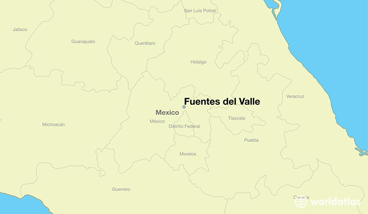 map showing the location of Fuentes del Valle