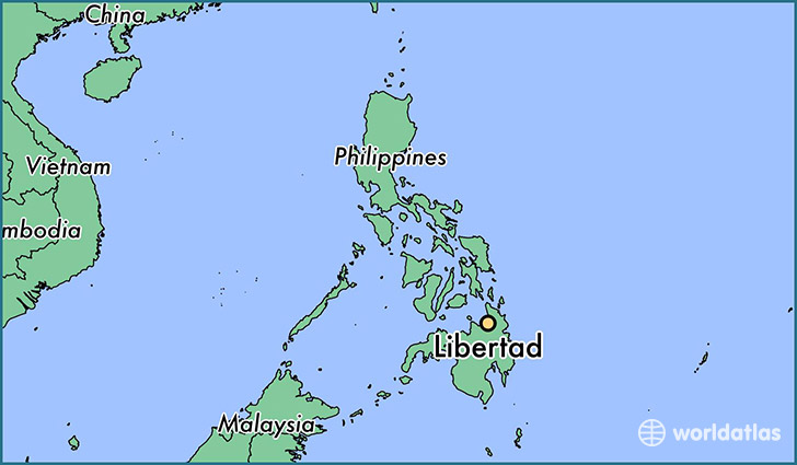 map showing the location of Libertad