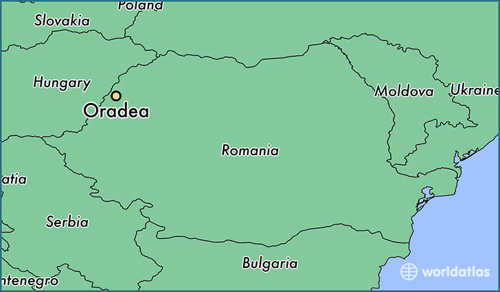 map showing the location of Oradea