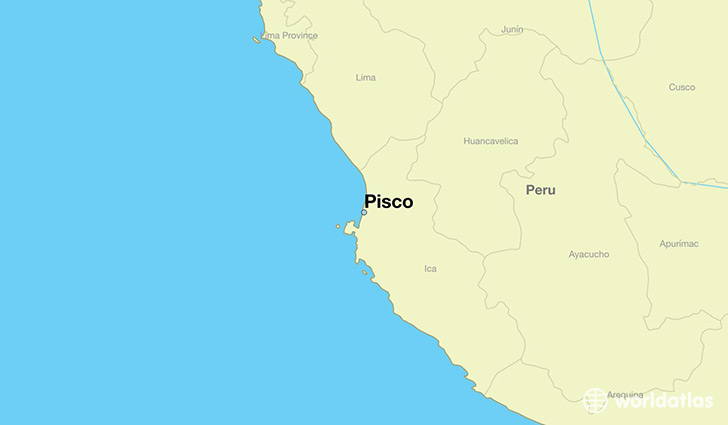 map showing the location of Pisco